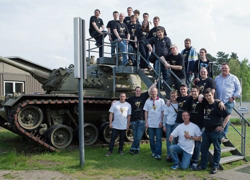 Gruppenbild Clantreffen Mai 2014 in Munster