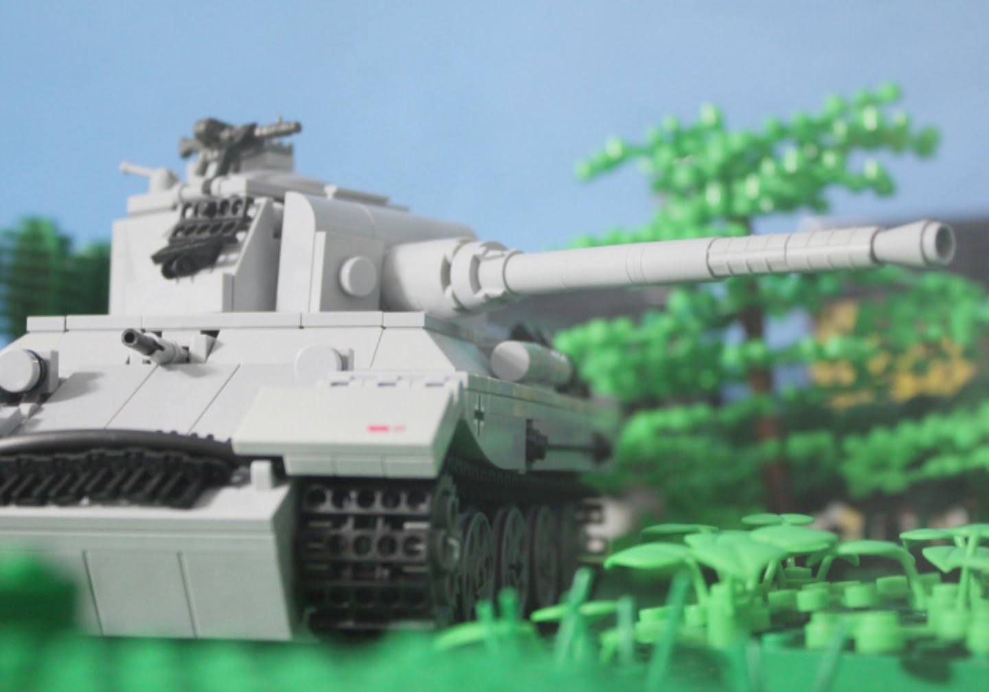 1944 Lego World War Two Tank Battle: Panther vs. Sherman Tanks