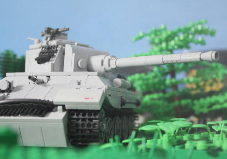 1944 Lego World War Two Tank Battle: Panther vs. Sherman Tanks